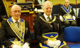 Golden Days at Mossley Lodge - A Triple Celebration - North Wales Freemasons - 50th anniversary - David Vernon Hughes