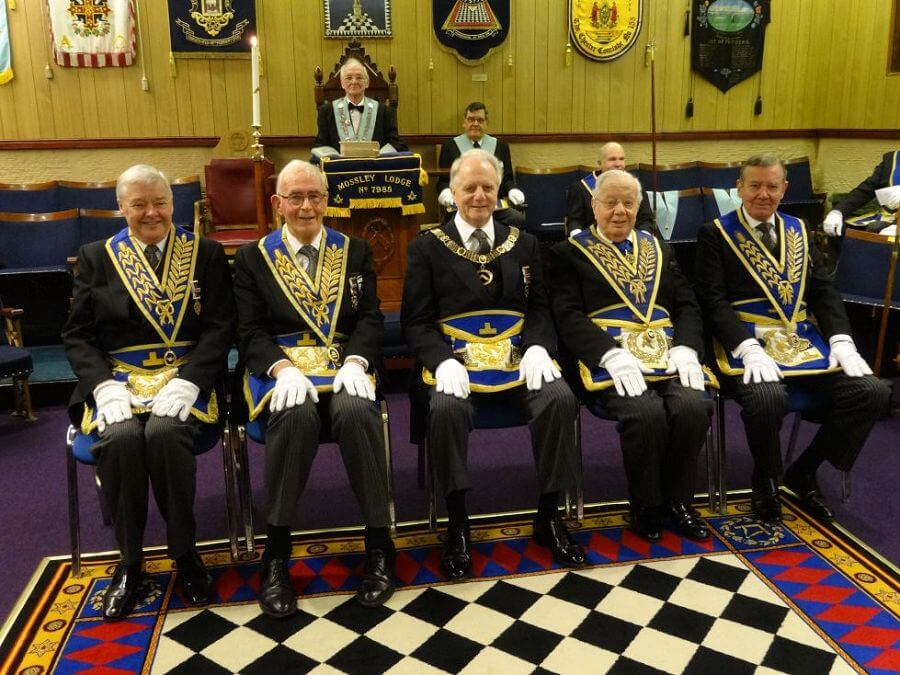 Golden Days at Mossley Lodge - A Triple Celebration - North Wales Freemasons - 50th anniversary - Leslie E. WHite